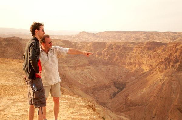 Faszinierender Blick in die Wüste am Mount Zeruya