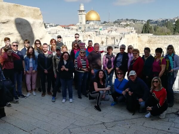 Die Gruppe in Jerusalem