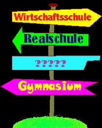 Hinweisschild-Schule