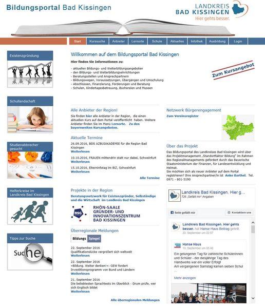 Startseite Bildungsportal
